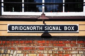 Signal box nameplate, Bridgnorth © Arena Photo UK