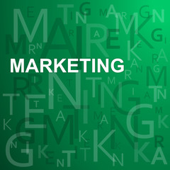 MARKETING on Letters Background (advertising brand product)