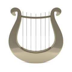 Musical instrument greek golden lyre harp