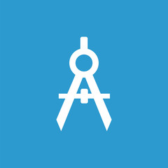 compasses icon, white on the blue background .