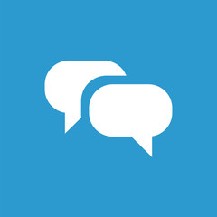 Conversation icon, white on the blue background .