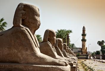 Avenida del templo de Karnak, Egipto