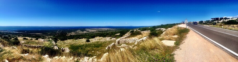 Stunning Croatian island panorama view