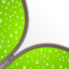 Reißverschluss Wasser grün