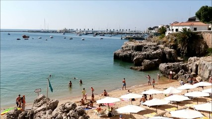 Summer day at the beach in Cascais