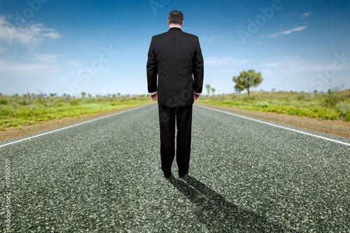 Leinwandbild Motiv road to horizon