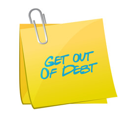 get out of debt memo illustration design