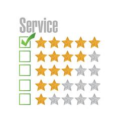 great service rating illustration design