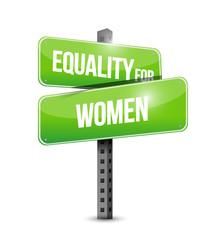 equality for women sign illustration design