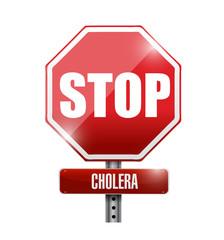 stop cholera sign illustration design