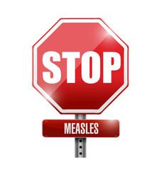 stop measles sign illustration design