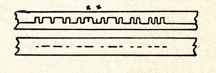 Undulator tape of telegraph