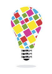 Electric bulb idea concept design
