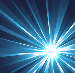 Star burst background in blue
