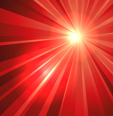 Star burst background in red
