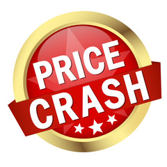 "Button mit Banner "" PRICE CRASH """