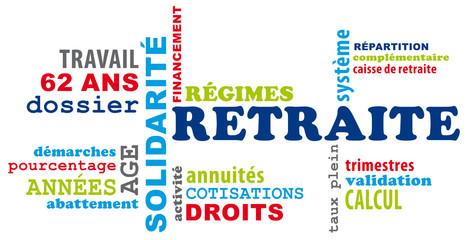 Nuage de mot sur le thème de la retraite