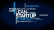 Lean startup business words text tag cloud video