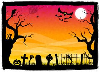 gruselige Halloween Nacht