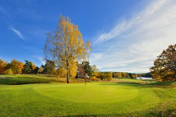 Jesień na polu golfowym, Szwecja