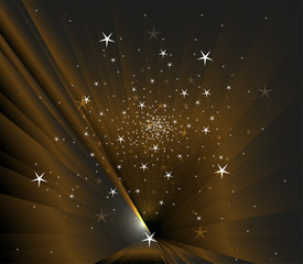 Stars on dark background vector