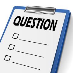 question clipboard