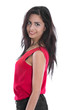 Exotische Schönheit: junge indische Frau in Rot