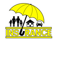 Insurance sign vector with umbrella