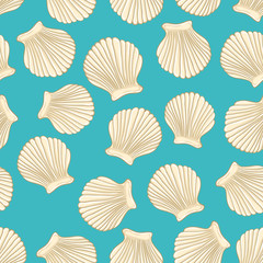 sea vector seamless pattern