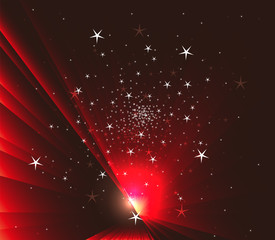 Stars on Dark red background
