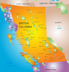 british columbia province map