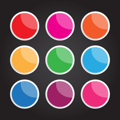 Vector circle button for creative work