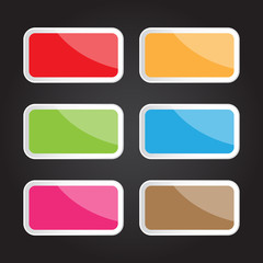 Vector square button for creative work
