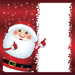 Santa Claus showing card, vector