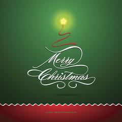 Merry Christmas card, Christmas Greeting Card. vector