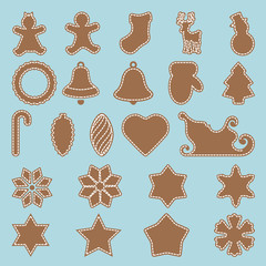 Gingerbread set, vector