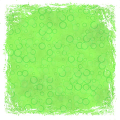 Green grunge background. Abstract vintage texture with frame and