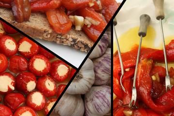 Tapas : Poivron mozzarella - Poivron grillé - Toast
