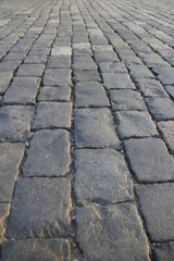 Road of stone block background