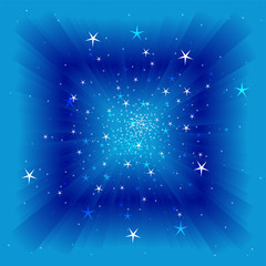 Vector sky background with lights and stars