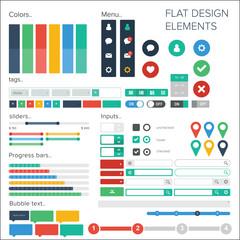 Flat design elements pack