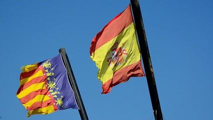 banderas de españa y valencia