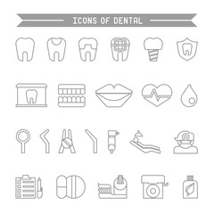 Icons of dental