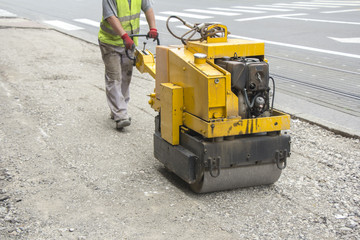 Vibration roller compactor