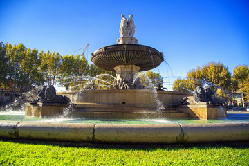 fountain at La Rotonde, Aix-en-Provence, France