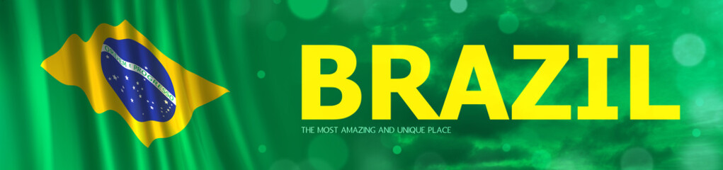 Abstract Brazil Flag, Brazilian Background