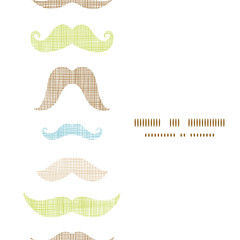 Fun silhouette mustaches vertical frame seamless pattern