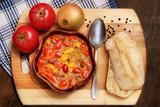 Leczo z pomidorami i papryką