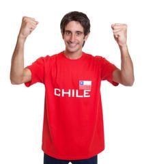 Jubelnder Fan aus Chile