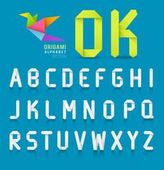 Paper origami alphabet letter design